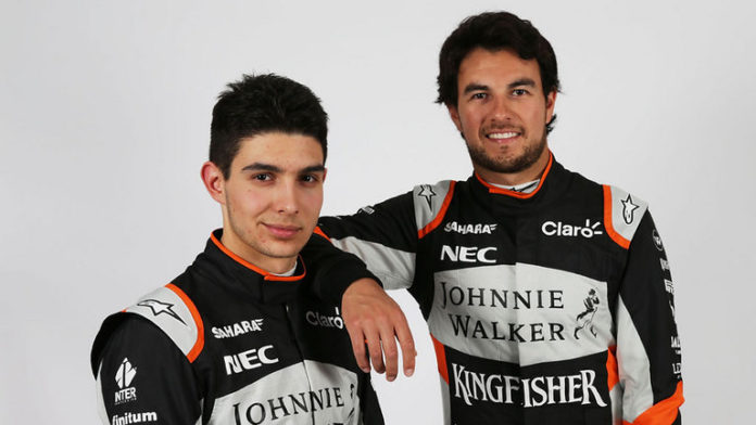 Force India 'Checo' Pérez Esteban Ocon