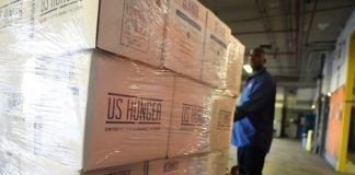 New York City Food Bank Prepares Food And Supplies To Ship To Puerto Rico For Hurricane Relief Efforts
