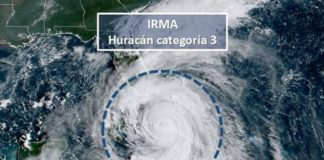 Huracán Irma se degrada a categoria 3