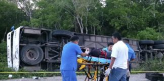 accidente en carretera de Quintana Roo