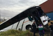 accidente tren camión