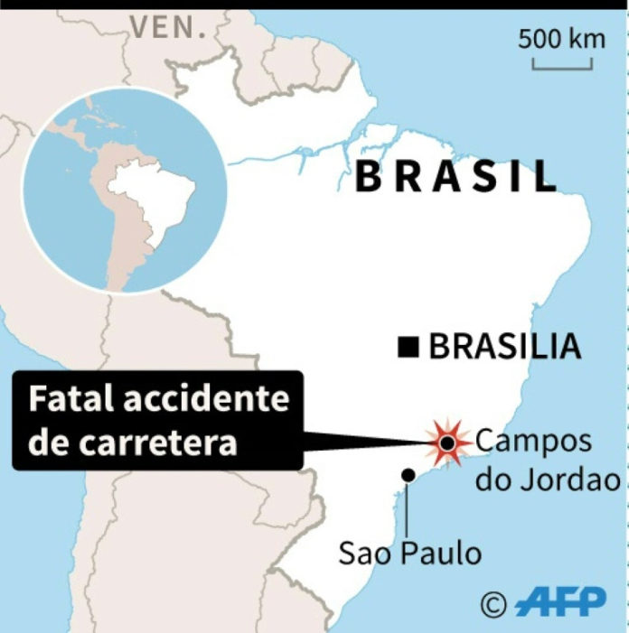 muertos accidente Brasil