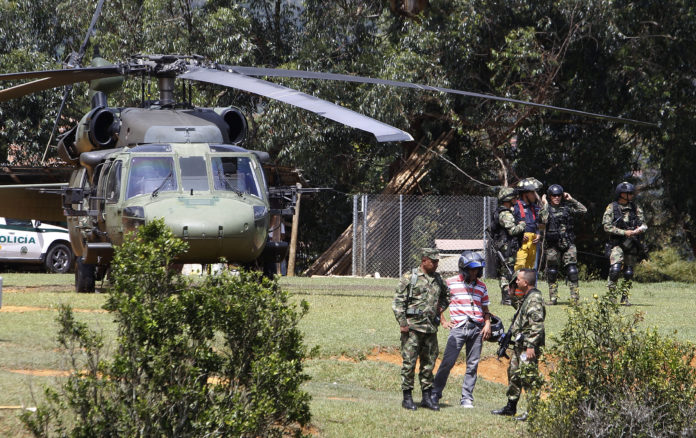 Militares colombianos accidente